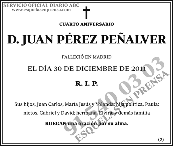 Juan Pérez Peñalver